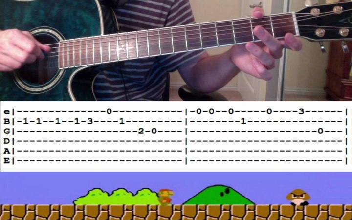 Guitar Lesson Super Mario Theme Song (with Tabs) -- How to Play Tutorial