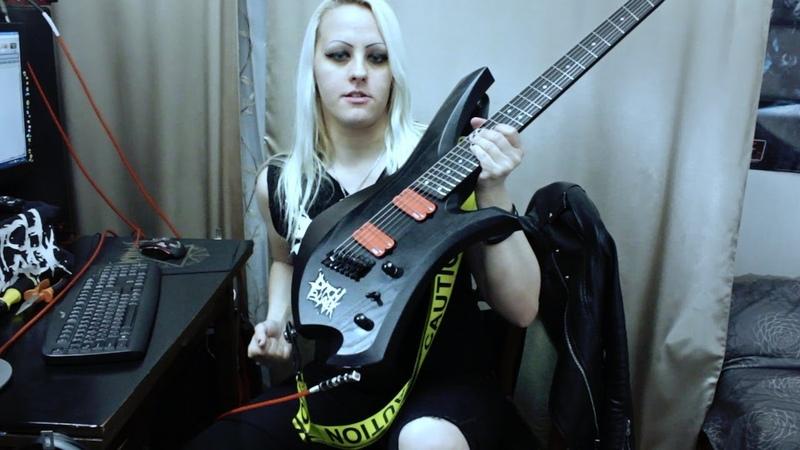 New Fokin Machete Pickups   KATANA Multiscale Inspector Guitars - тест-драйв Катрин Чайлд