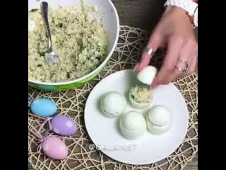 Вкусные фаршированные яйца