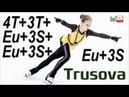 Alexandra TRUSOVA 4T 3T Eu 3S Eu 3S Eu 3S Champions on Ice 2019