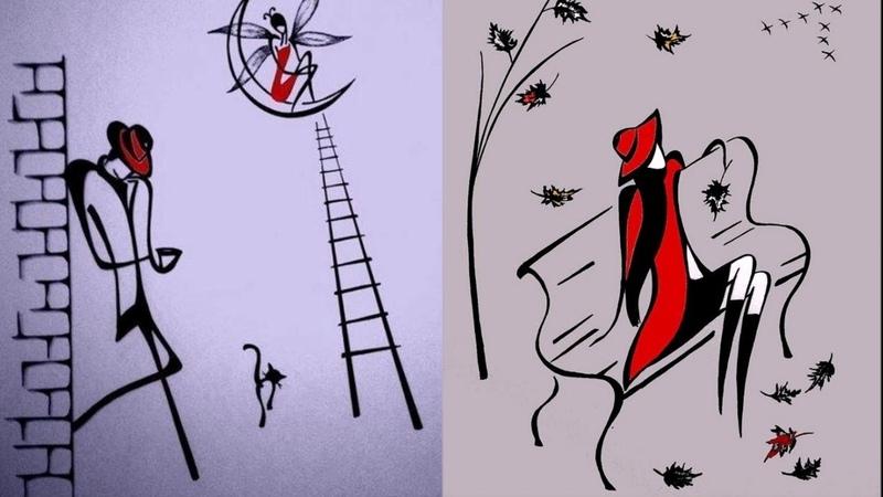 Очаровательная элегантность линий 💢 Живопись художника минималиста Татьяны Марковцевой