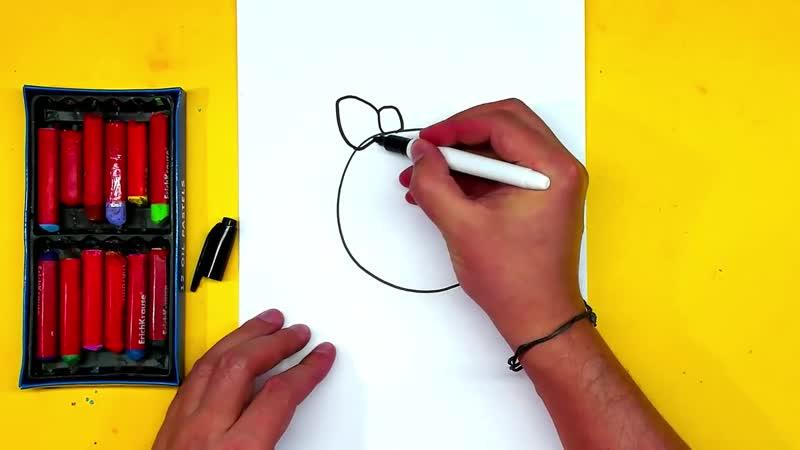 Мультик ТРИ КОТА урок рисования для детей Как нарисовать КАРАМЕЛЬКУ 720p