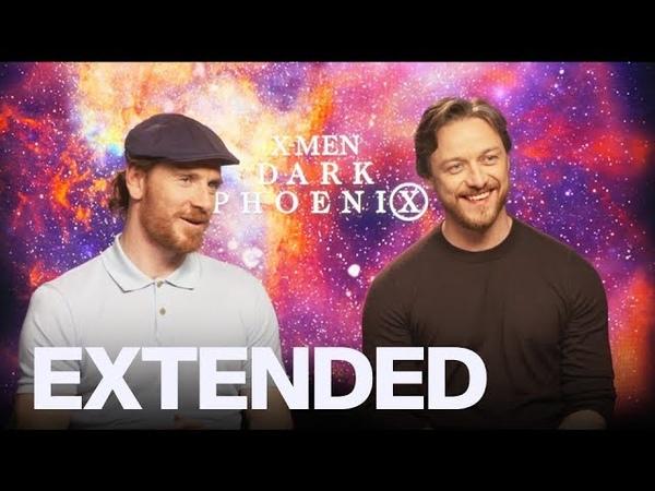 James McAvoy, Michael Fassbender On 'Dark Phoenix', 'It Chapter 2' Nightmares I EXTENDED
