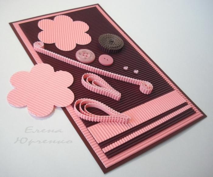 Поздравительная открытка из гофрированного картона
