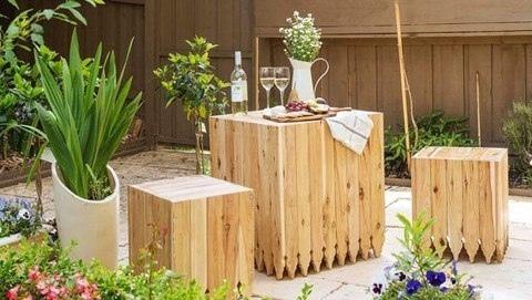 Оригинальный комплект садовой мебели