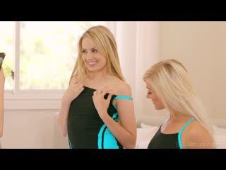 Scarlett Sage, Athena Faris and Morgan Rain - Swimsuit Show Offs [Lesbian]