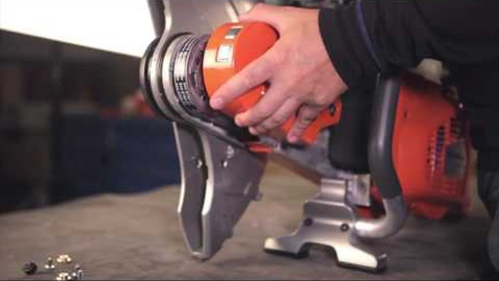 How to switch sides of the blade head on your Husqvarna K 970 power cutter