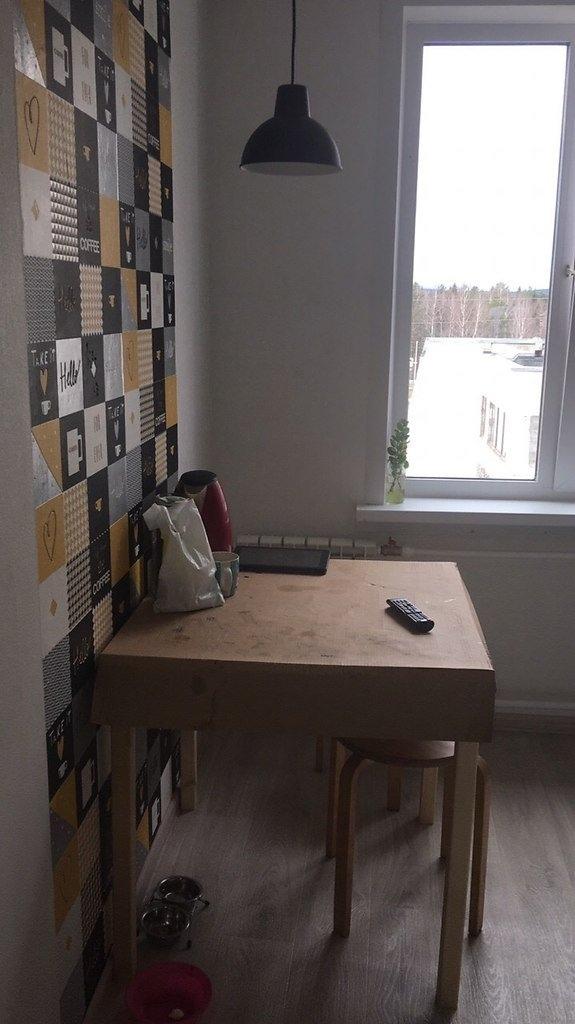 Ремонт кухни. Новые шторы, столик и стулья появятся позже. А так почти всё доделали