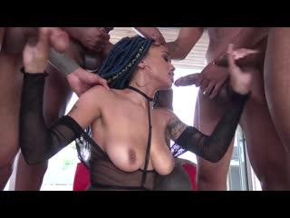 Julie Kay - BlowBang, Rim Job, IR, Ebony, Big Tits, Blowjob, Dee