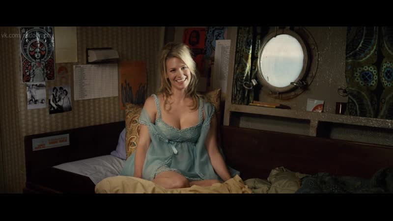 Дженьюэри Джонс (January Jones) в фильме Рок-волна (The Boat That Rocked, 2009, Ричард Кёртис) HD Голая? Секси!