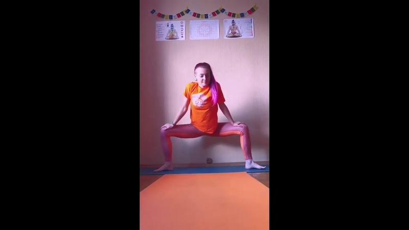 Low weight yoga exercises Йога для начинающих