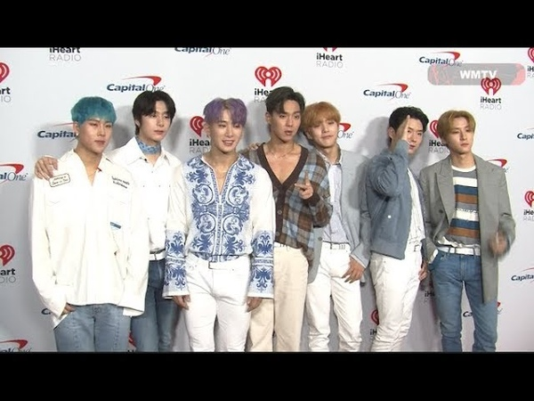 'MONSTA X' arrive at 2019 iHeartRadio Music Festival Red carpet