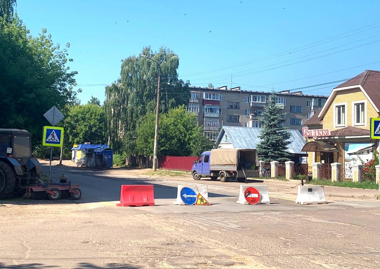В Волжске перекрыт дорожный участок на ул. Шестакова-Федина
