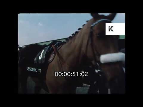 1960s, 1970s Steeplechase, Horse Racing, UK, HD