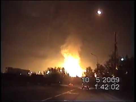 Из нашего архива. Пожар на газопроводе в Очаково 10 мая 2009 года