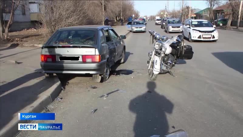 Мотосезон для байкеров в Кургане начался с аварий