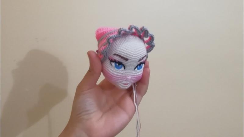Embroidery of the doll eye تطريز عيون احترافي لعروسه كروشيه