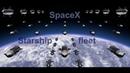 SpaceX fleet of 100 Starships leaving Earth orbit