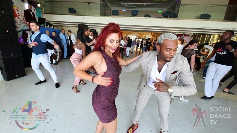 Yoandy Villaurrutia Sara Milan Salsa social dancing 4th World Stars Salsa Festival