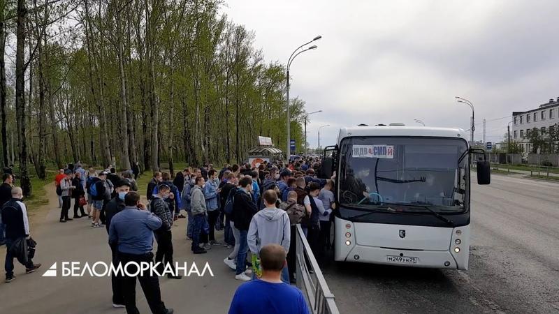 Штурм заказных автобусов в Северодвинске 4 июня 2020 года 📹 Северодвинск