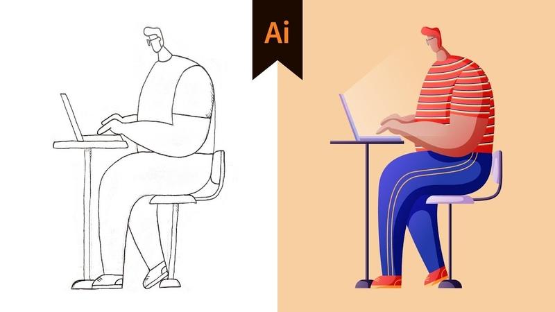 Character Illustration 03 - Design Workflow in Illustrator (Tutorial)