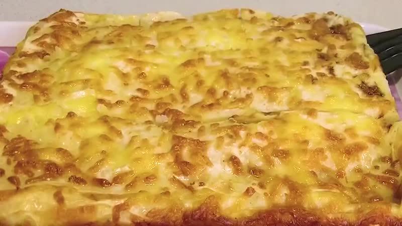 Пирог лентяй за 7 минут