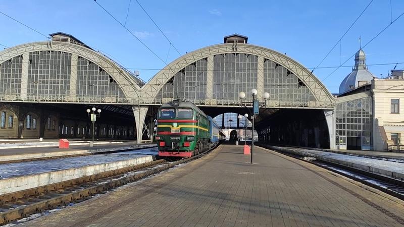Тепловоз 2М62-0074 споездом ✓2 Константиновка Ивано-Франковск