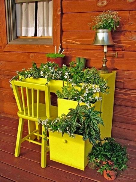 Дачные идеи из старой мебели (источник: gofazenda)
