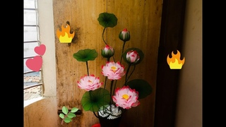 How to make Lotus flower with nylon stocking ☘ By TuberDiary