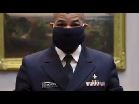 🇺🇸 U S Surgeon General shows us how to make a face mask by using an old t shirt and 2 rubber bands