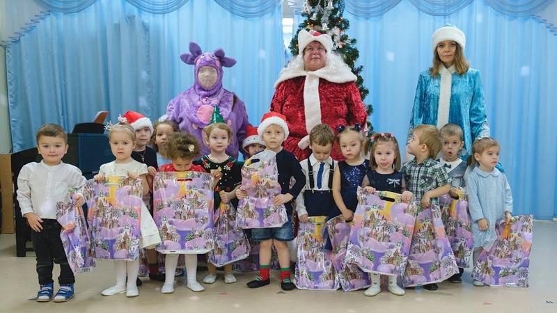 Новогодний утренник в детском саду №155 Съемка в детском саду утренника