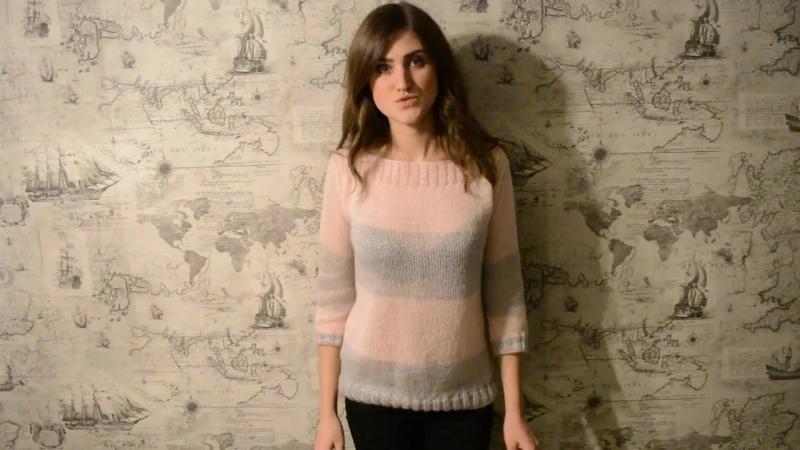 Как связать красивый свитер  спицами. Мастер класс. Вязание. Вязание спицами..mp4