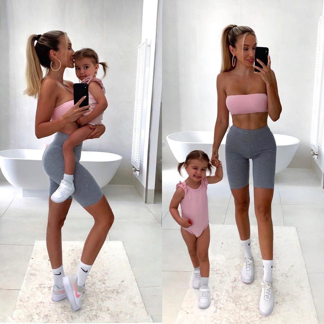 Спортивная мамочка — отличный пример для свои детей