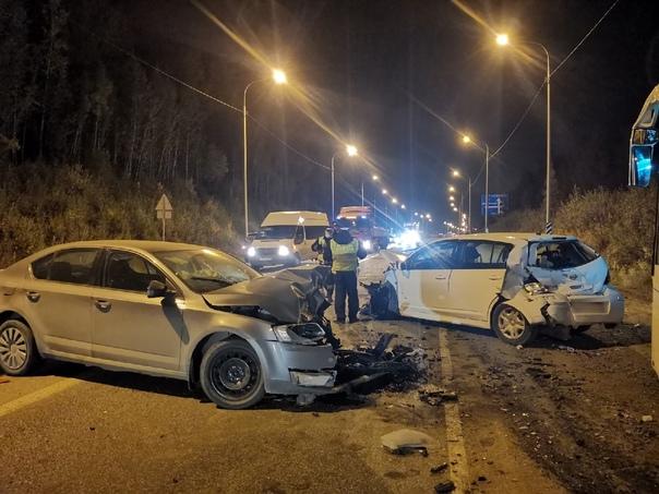 На трассе Пермь — Екатеринбург произошло массовое ...