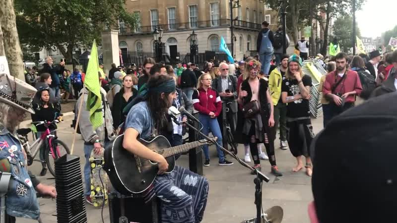 Cam Cole Mama and You Know Live at Extiction Rebellion protest in London