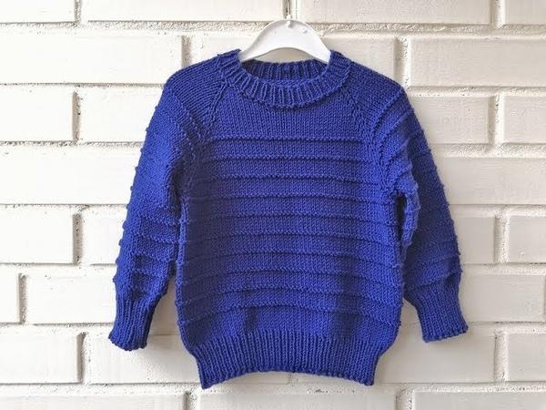 Экспресс мастер класс вязаный свитер спицами Реглан сверху расчеты