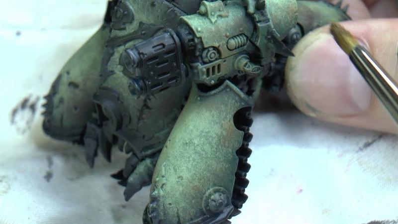 Blight hauler main armour drybrush stippling