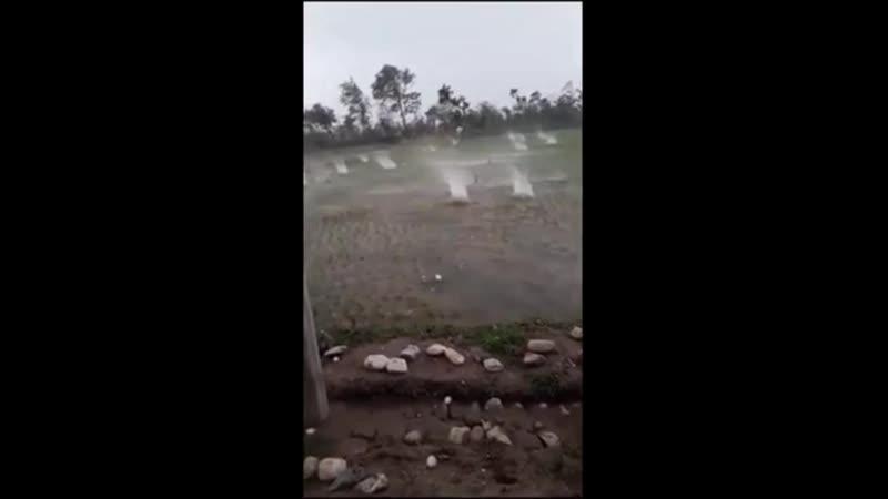 Градовый шторм в штате Трипура Индия 23 апреля 2020