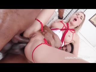 Polina Maxim - Legal Porno Series: Double Anal with 2 BBC (2020) [Interracial, Anal, DP, DAP, Blowjob, BBC, Creampie, Squirt]