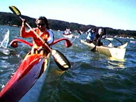 Surfski and Outrigger racing on San Francisco Bay