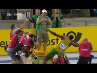 Мировой рекорд Усэйна Болта в беге на 100 метров в Берлине