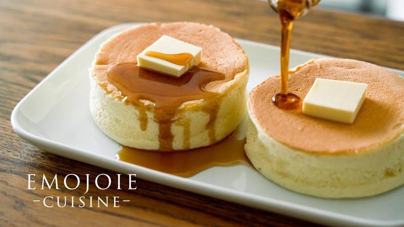 Japanese Soufflé Pancakes Recipe スフレパンケーキの作り方 Emojoie Cuisine