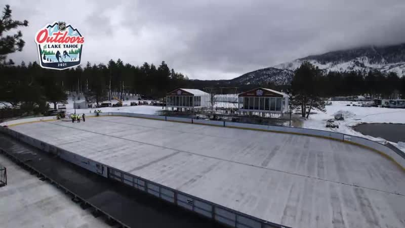 2021 NHL Outdoors time-lapse Feb 15, 2021