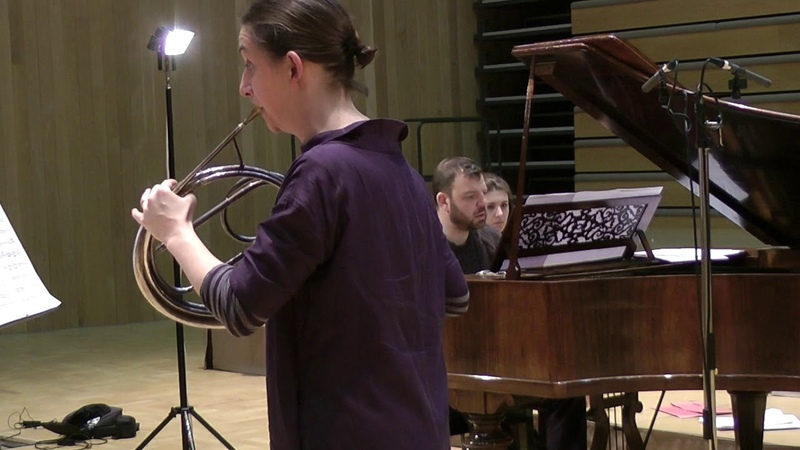 Anneke Scott Steven Devine perform Gallay's transcription of Schubert's Barcarolle