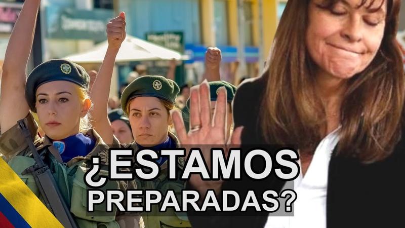 El servicio militar obligatorio de mujeres de Marta Lucia Ramirez ¿Y cómo es en otros países