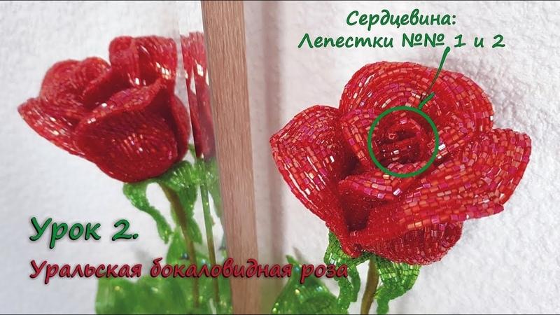 Бокаловидная роза 🌹 Урок 2 Центральные лепестки Cup shaped rose Lesson 2 Central petals