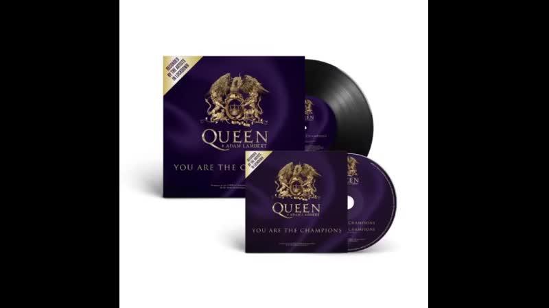 Queen Adam Lambert You Are The Champions CD vinyl single 5 08 2020