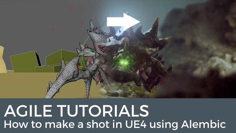 Agile tutorials How to make a shot in UE4 using alembic animation.
