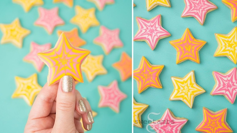 WET ON WET ROYAL ICING Star Cookies COLLAB with MONTREAL CONFECTIONS