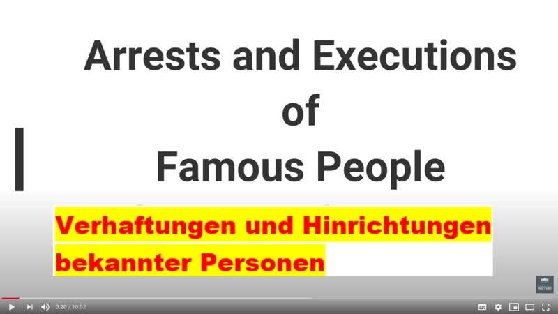SCHOCK Verhaftungen und Hinrichtungen bekannter Personen